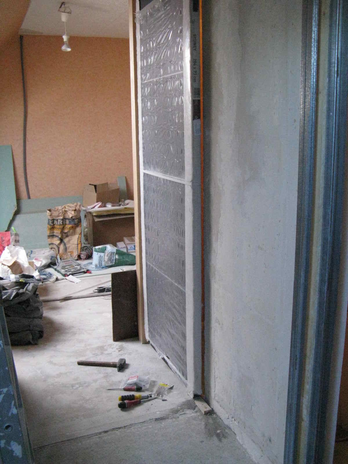 mur de verre et seconde porte coulissante higsblog. Black Bedroom Furniture Sets. Home Design Ideas